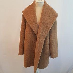 MaxMara alpaca and wool coat tan size 6